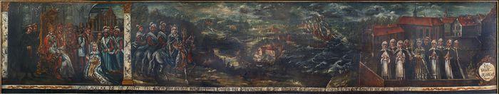 Stiftungsbild des Klosters zum Heiligen Kreuz, 1705/1756
